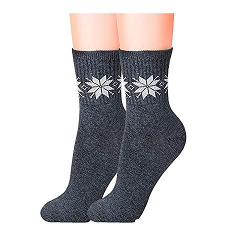 Fashion Bee Women's Fuzzy Winter Warm Crew Soft Socks (Grey, Pack of 01)