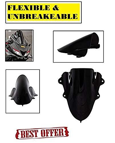 PA Flexible and Unbreakeable Visor Glass for Yamaha R15 V3 (Black) B-1