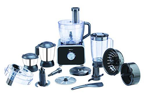 Bajaj FX 1000 DLX 1000 Watts Food Processor with 9 attachments (Black)