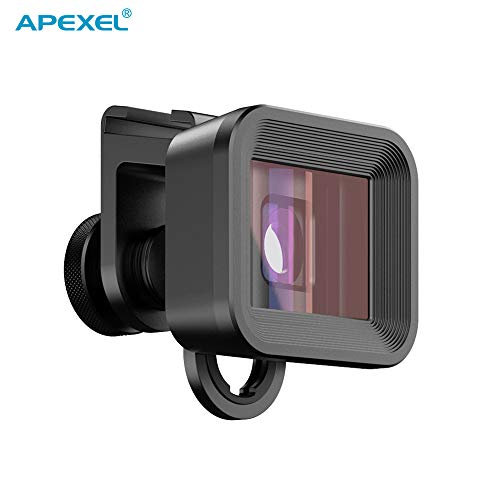Honelife APL-PRAN-UC 1.33X Deformation Mobile Anamorphic Lens Shot by Filmic APP Widescreen Phone Filmmaking Lens Compatible with iPhone 11 Pro/ 11/ X/XR/XS/XS MaX/ 8/7/ 6S/ 6 Plus Compatible with
