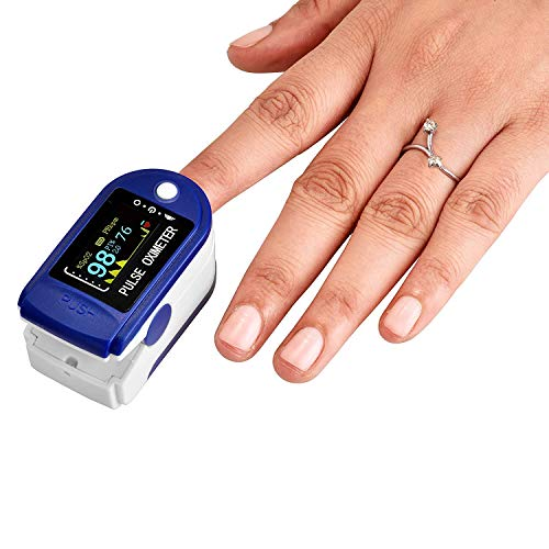 Eyetech Pulse Oximeter, Multipurpose Digital Monitoring et9 Pulse Meter Rate & SpO2 with OLED Digital Display [Battery included]