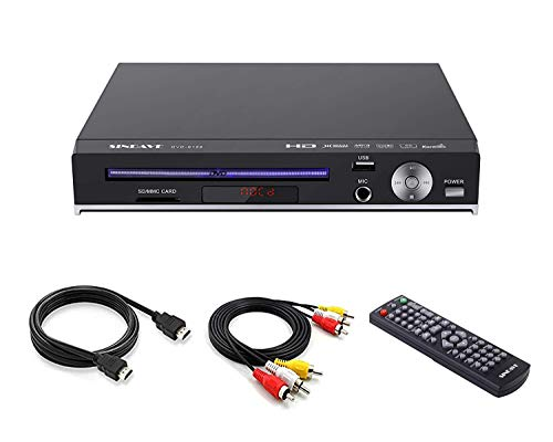 SINDAVE DVD Player-Digital DVD Player for TV Support 1080P Full HD Come with HDMI Cable Remote Control and Built-in PAL/NTSC System, USB Input DVD Players (HD DVD Player Upgraded)