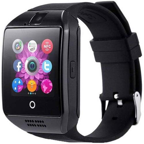 AJO Q18 Android Bluetooth Smart Watch All 2g, 3g,4g Phone with Camera and Sim Card Support with Activity Trackers - Black
