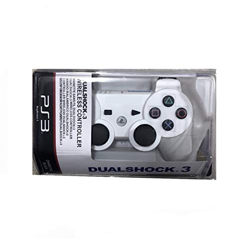 Moosa Games DualShock Wireless Controller for PlayStation 3 | Professional PS3 Wireless Gamepad for PlayStation 3/ PS3 Slim / PS3 Super Slim/PS3 Fat - Special Edition White