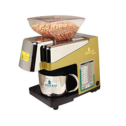 SEEDS 2 Oil S2O-2A Comfort Oil Extractor Machine and Cold Press Oil Machine (Gold)