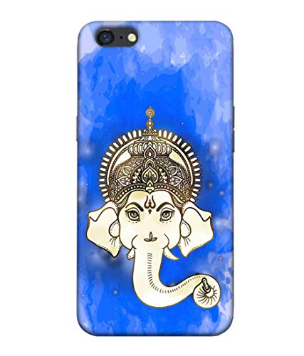 S SMARTY Blue Ganesh Printed Hard Case Mobile Back Cover for Oppo A71
