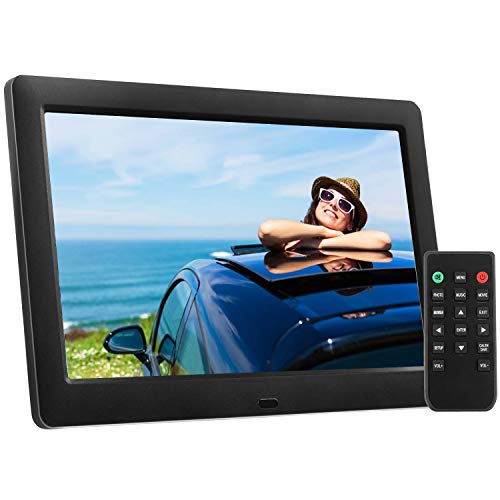 Pipishell Digital Picture Frame 8 Inch Electronic Photo Frame & High Resolution 1280 x 720 IPS LCD Screen - Auto-Rotate/Calendar/Clock Function, MP3/ Photo/Video Player with Remote Control
