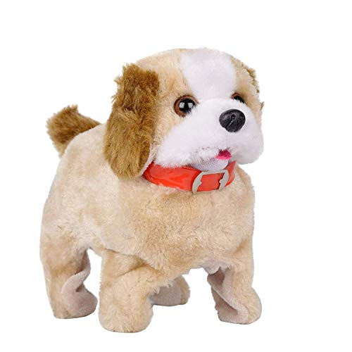 MANAKI ENTERPRISE Barking, Waging Tail, Walking and Jumping Puppy, Battery Operated Back Flip Jumping Dog with Sound and Music Best Gift for Toddlers and Kidscream