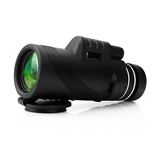 Kevim Monocular Telescope Durable and Clear FMC BAK4 Prism for Bird Watching Caming Hiking Matgh Hunting with Hadn Strap Black Telescope Monocuar