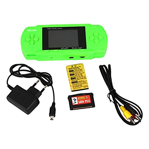 Digital PVP Play Station 3000 Digital TV Video Game- PSP Game Console Full HD Games 3000 in built games (Green)