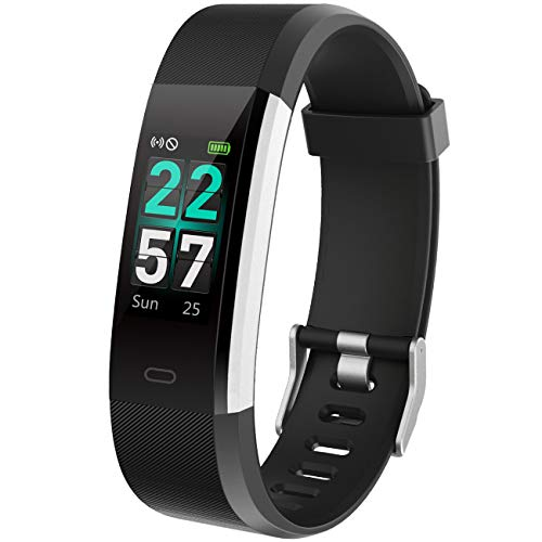 Dronean LPO258 ID115 Bluetooth Fitness Smart Wrist Band with Heart Rate Sensor Activity Tracker Waterproof Body Functions Like Calorie Counter, Blood Pressure, OLED Touchscreen Uses with All Devices