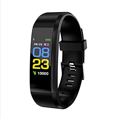 Sketchfab Plus Smart Fitness Band IPX7 Waterproof Activity Tracker with Heart Rate Monitor Sleep Monitor Activity Band 14 Exercise Modes GPS Route Tracking USB Quick Charge - (Black)