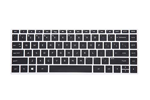 Saco Chiclet Keyboard Skin for HP Pavilion x360 14-dh1025TX Touch Screen Laptop - Black