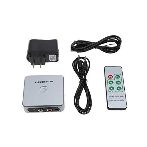 Tobo Music Digitizer 3.5mm Jack /RCA Port to MP3 Audio Capture Recorder Music Digitizer Support SD Card & USB Flash Drive US Standard