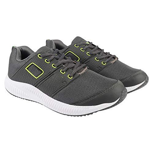 ACTION Men's Grey Running Shoes (ESP-122-DARK-GREY-P-GREEN_6)
