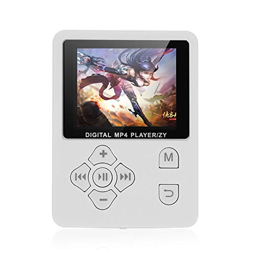 Sangmei MP3 MP4 Digital Player 1.8 Inches Color Screen Music Player Lossless Audio Video Player Support E-Book FM Radio Voice Recording TF Card Stopwatch TN#