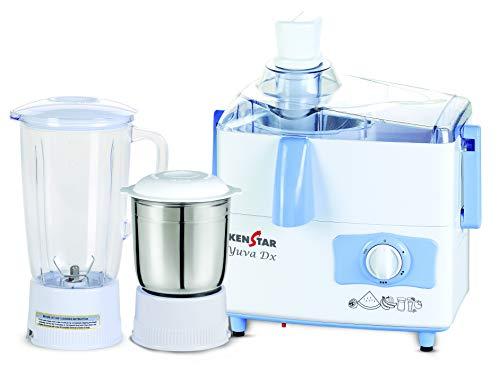 Kenstar Yuva DX 450-Watt Juicer Mixer Grinder with 2 Jars (White & Blue)