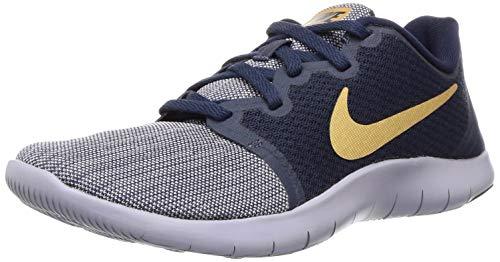 Nike Women's WMNS Flex Contact 2 Obsidn/M Gold Running Shoes-4 UK (37.5 EU) (6.5 US) (AA7409-402)
