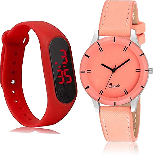 NEUTRON M2 Analogue - Digital Black and Red Color Dial Women Watch - GC28-G270 (Pack of 2)
