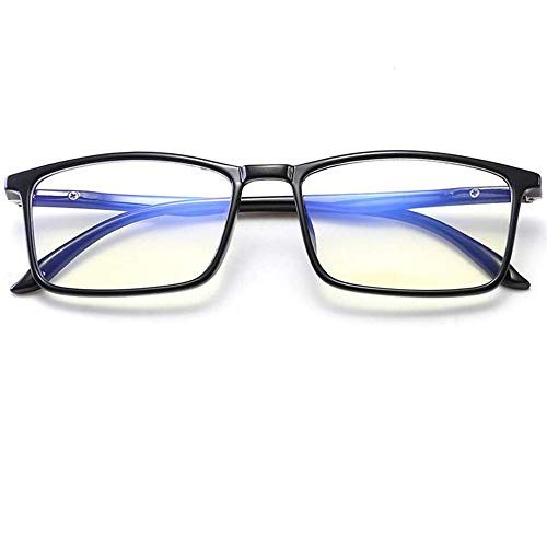 David Smith® Premium BlueCut UV420 PROTECTED Rectangle Spectacles Frame With Anti glare Blue Ray Cut Glasses Zero Power for Eye Protection from UV Computer Eyeglasses Unisex