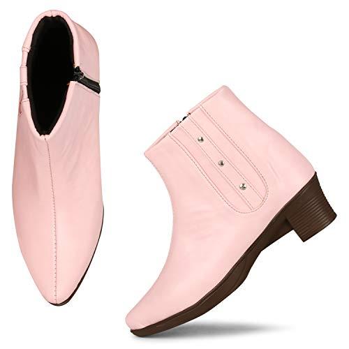 FASHIMO Women's Boot Zip01-L.Pink-37