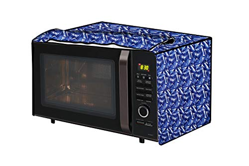 The Furnishing Tree Microwave Oven Cover for Godrej 20 L GME 720CF1 PM Frieze Pattern Blue