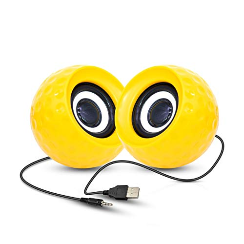 UBON Multimedia Speaker 2.0 GSP-100A Powered USB Speaker for Desktop Computer/PC/TV/Laptop Gaming Speaker with Output 6W (Yellow)
