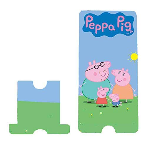 blinkNshop Peppa Pig Wooden Mobile Stand/Detachable Holder/Dock Station with Charging Slot, Customized Gift Item