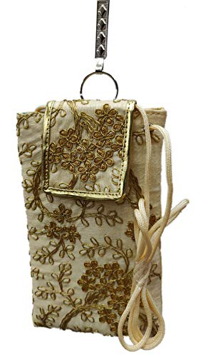 STYLO G Women's Mobile Cover for big mobile phones with Purse Pocket and Sari Hook-GOLD