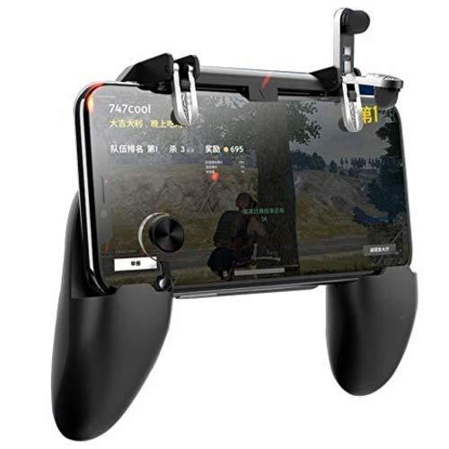 KNIZZAL ENTERPRISE Mobile Gamepad Controller Grip Case Handle Mobile Holder Joystick with Metallic PUBG Trigger Button for Android Phones