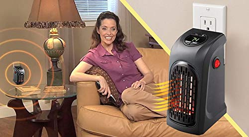 Basilica Handy Heater | Plug-in Personal Heater | Compact Design | Quick and Easy Heat | Digital Display | Great for Travel | On/Off with Timer | for Home/Office/Camper.