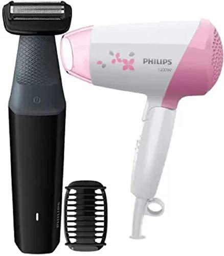 Philips BG3006 Body Groomer & HP8120 Hair Dryer Personal Care Appliance Combo (Hair Dryer, Trimmer)
