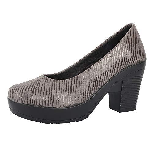FASHIMO Women's Heels Bellies PN8-grey-41