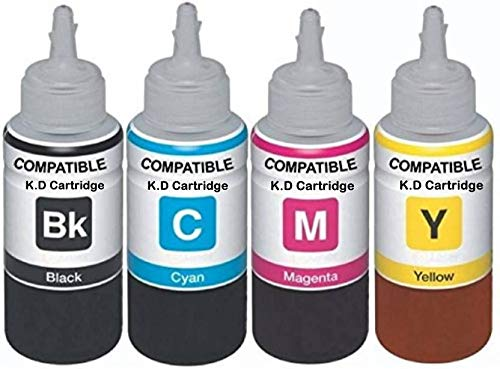 Dubaria Refill Ink for 950 & 951 Refillable Ink Cartridge 100 ML- Cyan, Yellow, Magenta, Black