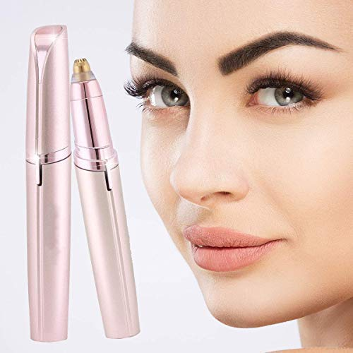 FALAK CREATION Painless Eyebrow Hair Remover,Face,Lips,Nose Hair Removal Trimmer with Light for Women's (Multicolour)