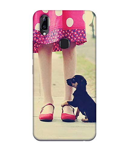 S SMARTY Cute Girl and Puppy Printed Hard Case Mobile Back Cover for Vivo Y83 Pro