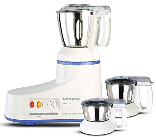 Panasonic AC MX-AC310 550-Watt Super Mixer Grinder with 3 Jars (White)