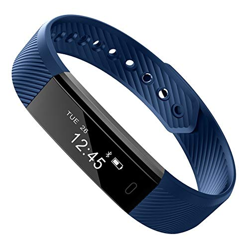 Buddymate ALK258 Waterproof Bluetooth ID115 Wrist Band Support Steps and Calorie Counter, Blood Pressure, Distance Measure, OLED Touch Screen Compatible with All Devices [Multicolor]