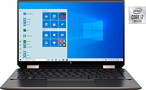 "HP Spectre X360 2020 GEM Cut 13.3"" FHD Touch Laptop, Intel i7-1065G7, 16GB RAM, 512GB SSD, Bang & Olufsen, Fingerprint Reader, HP Stylus, Nightfall Black, Win 10 Pro"