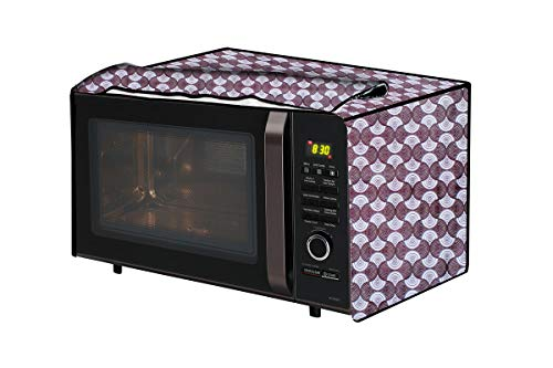 The Furnishing Tree Microwave Oven Cover for Samsung 21 L Convection CE77JD-SB/XTL Counterchange Pattern Grey