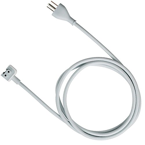 CABLESETC Replacement US Plug 3Pin DuckHead Extension Power Cord for MacBook Air Pro Power Adapters (White) 1.8m 6 feet