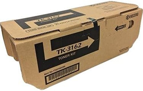 Kyocera 1T02T90US0 Model TK-3162 Black Toner Cartridge for ECOSYS P3045dn; Genuine Kyocera; Up to 12,500 Pages