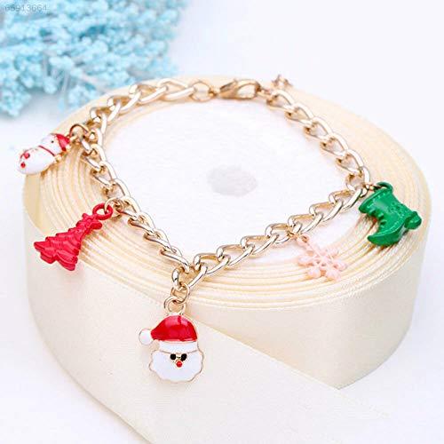 ELECTROPRIME E683 Christmas Bracelet Santa Tree Boots Charm Cute Chain Girls Xmas Bangle Part