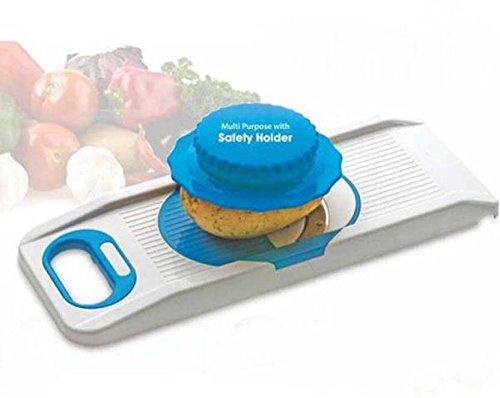 ADRIWARE 6 in 1 Vegetable Slicer with Safety hoder Blue