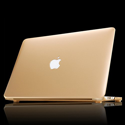 """MOCA for 13 and 13.3"""" inch MacBook Pro with Retina Display Matte Hard Shell Skin Front Back Case Cover (Gold)"""