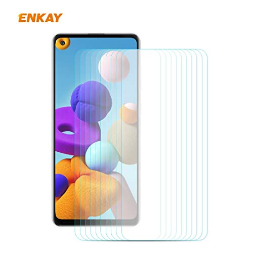 ZCLINXHEFSDSS Mobile Phone Tempered Glass Film for Samsung Galaxy A21s 10 PCS Hat-Prince 0.26mm 9H 2.5D Curved Edge Tempered Glass Film