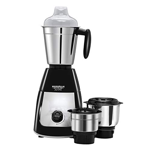 Maharaja Whiteline MX-218 Joy Turbo Classic 500W Mixer Grinder Premium Black and Silver