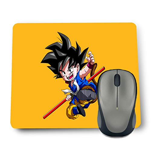 Shop-buz Printed Non Slip Rubber Designer Mouse Pads Cartoon/Girls (220 mm x 180 mm x 3 mm) Multicolor (Kid Goku)