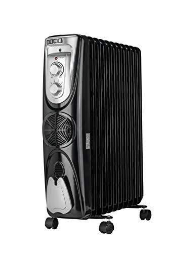 Usha 3809 FB 2000-Watt Oil Filled Radiator (Black)