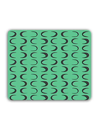 Madanyu Designer Mousepad Non-Slip Rubber Base for Gamers - HD Print - C Shapes Pattern